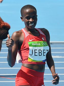 Ruth Jebet Rion olympialaisissa 2016.
