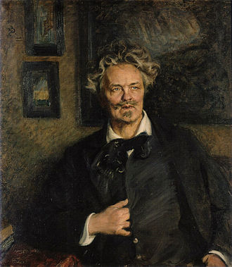 Swedish literature - The novelist and playwright August Strindberg, painted by Richard Bergh, 1906
