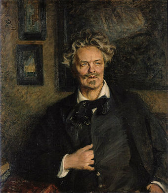 August Strindberg (1849-1912) from Sweden Portrait of August Strindberg by Richard Bergh 1905.jpg