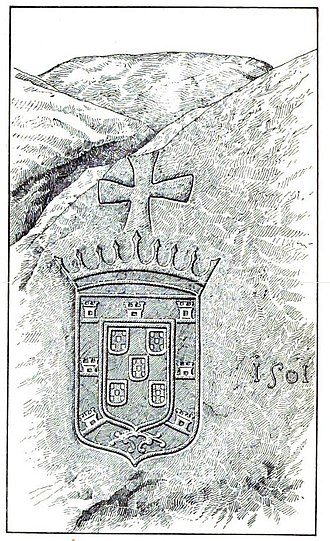 3rd Portuguese India Armada (Nova, 1501) - Portuguese inscription on a boulder in Colombo, Sri Lanka, dated 1501, conjectured to have been left by the Third Armada.