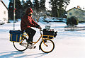 Postman on bicycle, 1992.jpg