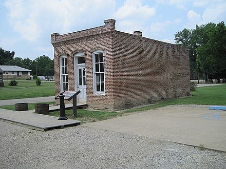 Telephone Exchange Building, June 2012 Powhatan Historic State Park Powhatan AR 002.jpg