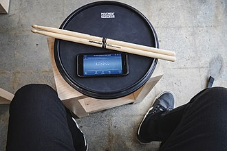 Drum rudiment - Using a metronome with a practice pad is a common and effective way to practice drum rudiments.