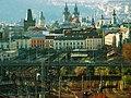 Praha, Žižkov, pohled na Masarykovo nádraží.jpg