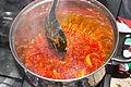 Preparation of okro stew. (palm oil allowed to fry).jpg