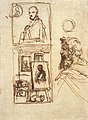 Preparatory drawing for Self-portrait on an Easel in a Workshop by Annibale Carracci.jpg