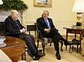 President Bush Meets with World War I Veteran Corporal Frank Woodruff Buckles.jpg