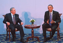 220px President Obama Meets with President Castro