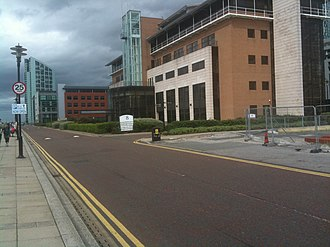 Prince's Dock, Liverpool - Office blocks on Princes Parade