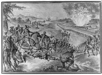 Pensacola, Florida - A 1783 engraving depicting the Siege of Pensacola