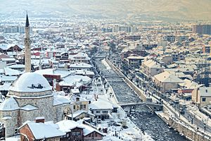 Prizren Bistrica - Bistrica in Prizren during winter