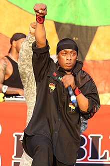 Professor Griff performing with Public Enemy in 2014
