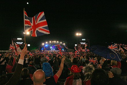The Last Night of the Proms celebrates British tradition with patriotic music of the United Kingdom. Proms in the Park 2.jpg