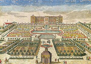 Frederiksberg Palace - Frederiksberg Palace in about 1750