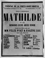 Prospectus de la pièce de théâtre Mathilde par Eugène Sue et Felix Pyat.tif