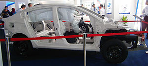 Vehicle frame -  Proton Prevé with unibody construction