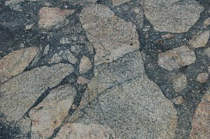 Pseudotachylite - Pseudotachylite breccia from Vredefort, South Africa