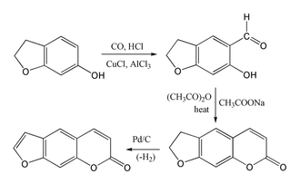 Psoralen - Synthesis of psoralen from 6-hydroxycoumaran