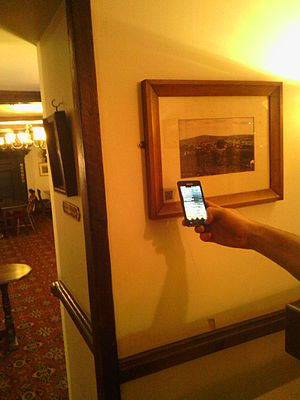Punch House, Monmouth - A picture with QR code for MonmouthpediA