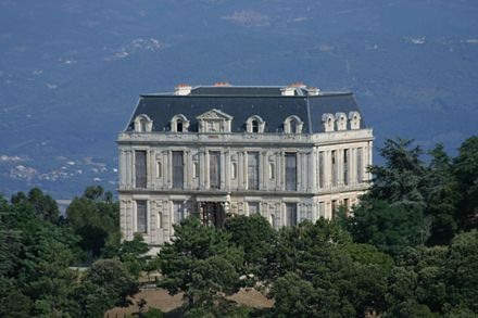 The Chateau de la Punta in Corsica which was partially built with stones from the Tuileries Punta-Facenord.jpg