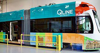QLine - A QLine streetcar in May 2017