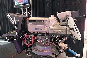 Professional video camera - Studio camera with Teleprompter