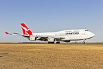 Qantas (VH-OJU) Boeing 747-438(ER) at Avalon Airport (2).jpg