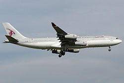 Qatar Amiri Flight landing in Zurich.jpg