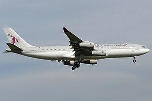 Qatar Amiri Flight - Qatar Amiri Flight Airbus A340-200 landing in Zurich