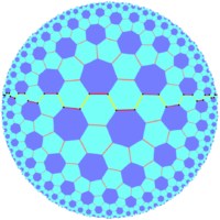 Quasiregular skew apeirogon in truncated order-7 triangular tiling.png