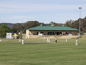 Queanbeyan District Cricket Club -  Queanbeyan District Cricket Club pavilion Freebody Oval, Queanbeyan New South Wales.