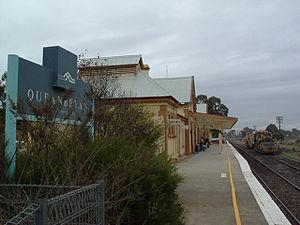 Bombala railway line - Image: Queanbeyan railway station, nsw