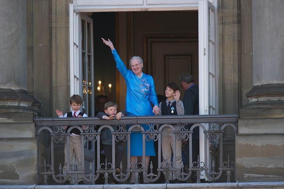 Queen Margrethe II of Denmark 70th Birthday April 2010