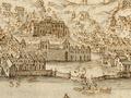 Quinta Real de Belém - Vista e perspectiva da Barra, Costa e Cidade de Lisboa (Bernardo de Caula, 1763).png