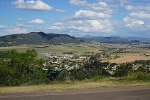 Quirindi - View over Quirindi from a nearby lookout