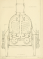 R. and W. Hawthorn 2-2-2 locomotive No. 224 Paris and Versailles Railway 1838 front elevation cutaway through smokebox.png