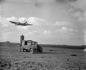 No. 616 Squadron RAF - 616 Squadron Meteor F Mark III takes off from B58/Melsbroek, Belgium, 1945