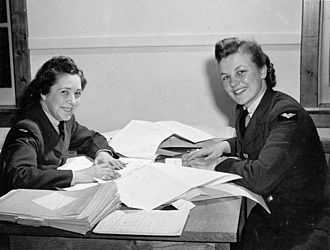 Royal Canadian Air Force Women's Division - Timekeeping personnel of the RCAF Women's Division, No. 2 Service Flying Training School, RCAF Station Uplands, 1942