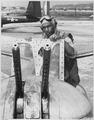 RETURN AT DAWN. T-Sgt. Charles W. Ledbetter, 705 East Stewart Avenue, Columbus, Ohio, is shown as he returned shortly... - NARA - 542358.tif