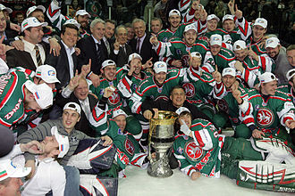 Kontinental Hockey League - Ak Bars Kazan after winning the Gagarin Cup in 2009