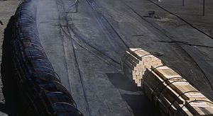 Creosote - Image: Railroad Ties Before After Creosote Santa Fe RR Albuquerque NM