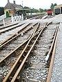 Railway tracks crossing at Washford Station - geograph.org.uk - 943915.jpg
