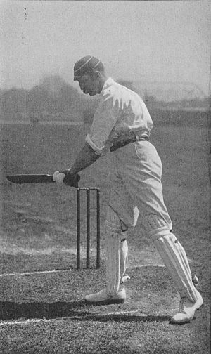 Albert Ward (cricketer, born 1865) - Ward in the 1890s, cutting