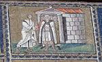 Ravenna, sant'apollinare nuovo, int., storie cristologiche, epoca di teodorico 07.2 tradimento di giuda.jpg