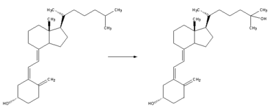 Reaction - cholecalciferol to calcidiol.png