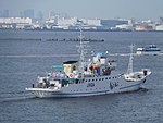 Rear view of Shirochidori a fishery training vessel of Mie maritime high school.jpg