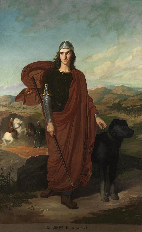 Retrato imaginario de Recaredo II († 621), rey de los Visigodos e hijo y succesor del rey Sisebuto..