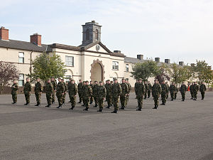 Stephens Barracks - A Reserve Defence Force recruits passing out parade at Stephens Barracks