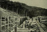 Reinforced concrete culvert in course of construction at Crimdon Dene. Concrete and constructional engineering. Vol 17, No 2, London, February 1922. p. 82.jpg