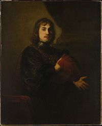 Rembrandt - Portrait of a man in a gorget holding a plumed hat.jpg
